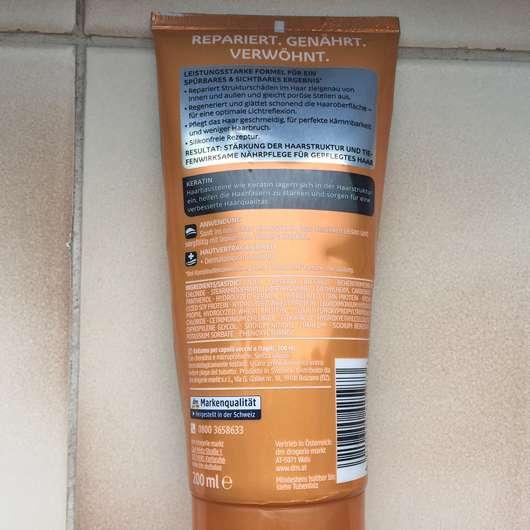 Verpackungsrückseite - Balea Professional Wonderful Repair Shampoo