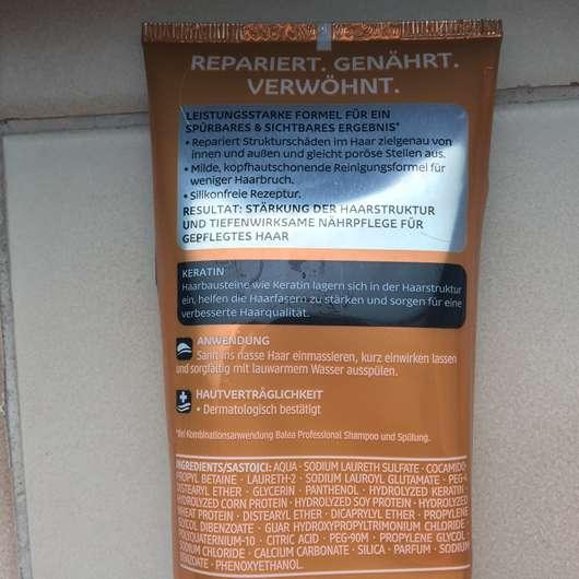 Verpackungsrückseite - Balea Professional Wonderful Repair Spülung