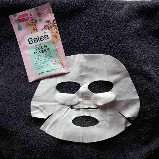 Balea Tuchmaske Cool Camel (LE) - Maske ausgebreitet