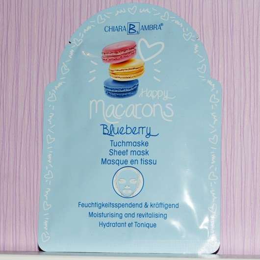 CHIARA AMBRA Happy Macarons Blueberry Tuch-Maske - Sachet