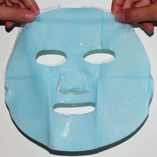 CHIARA AMBRA Happy Macarons Blueberry Tuch-Maske - ausgepbreitet