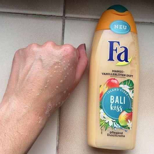 Fa Bali Kiss Duschcreme - Schaumverhalten
