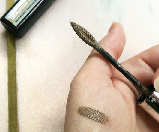 Swatch - Maybelline BROWprecise Fiber Filler, Farbe: Dark Blond