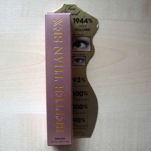Too Faced Better Than Sex Mascara - Verpackung