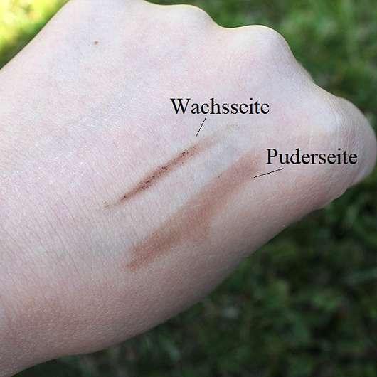 Maybelline Brow Satin Puder-Liner, Farbe: Medium Brown - Swatch auf der Hand