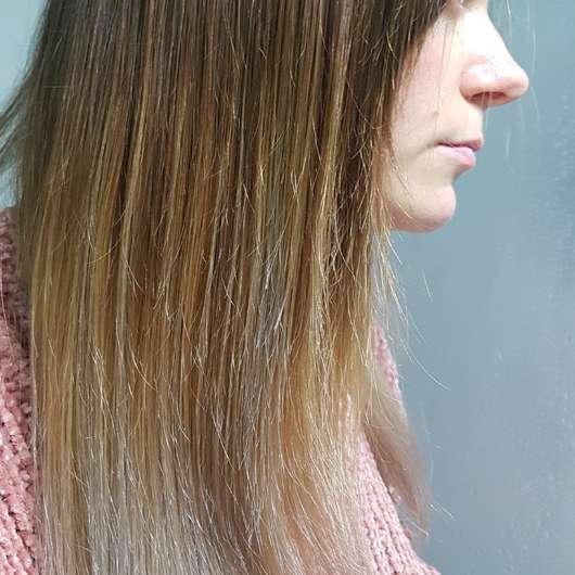 Haare vor dem Test - alverde Glanz Haarkur Bio-Rohrzucker