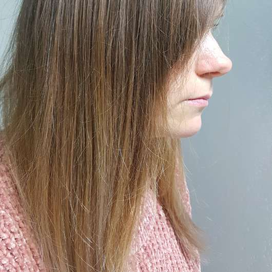 Haare nach dem Test - alverde Glanz Haarkur Bio-Rohrzucker