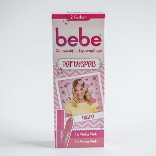 bebe Zauberstift Lippenpflege Partyspaß Set, Farben: Pretty Pink & Pinky Pink
