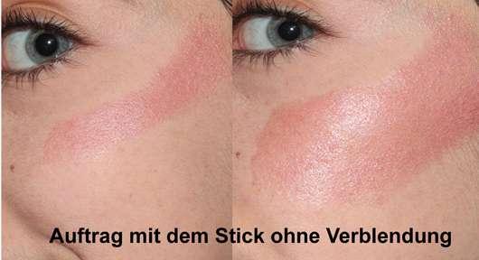 Auftrag im Gesicht - Bell HYPOAllergenic Creamy Rouge Glow Stick, Farbe: shining pink