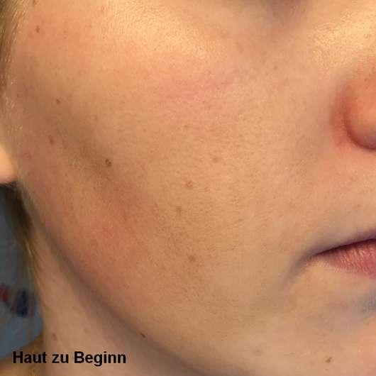 Haut zu Testbeginn - BIO: VÉGANE Bio Grüntee Glow Fluid