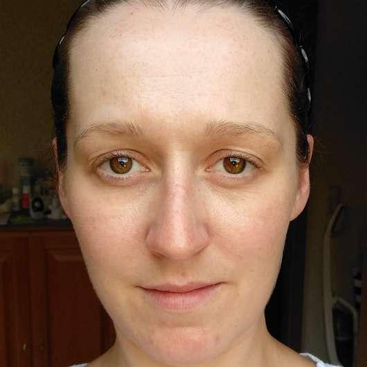 Haut vor dem Test - DR. SCHELLER Reinigung Anti-Polution Gesichtswasser
