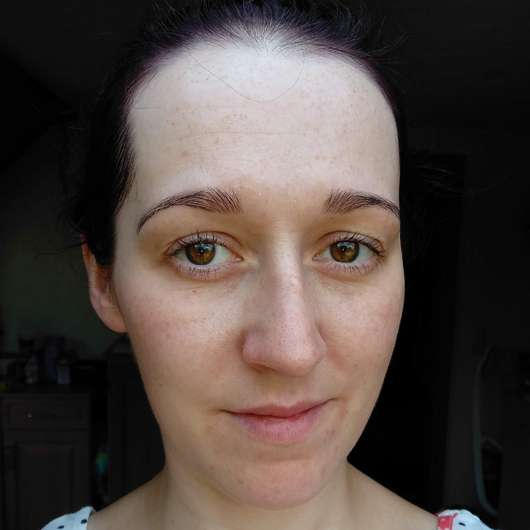 Haut nach 4-wöchigem Test - DR. SCHELLER Reinigung Anti-Polution Gesichtswasser