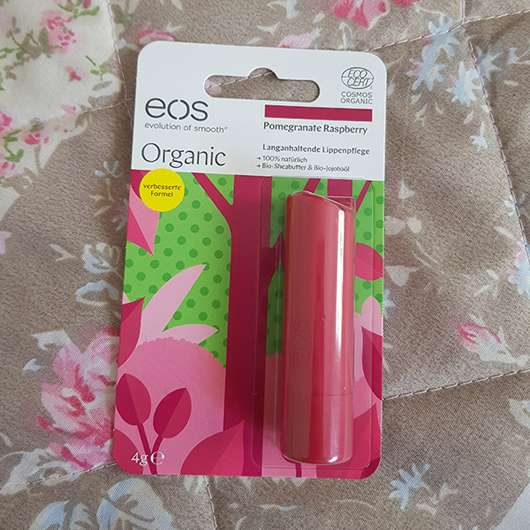 <strong>eos</strong> Smooth Spheres Organic Lip Balm - Sorte: Pomegranate Raspberry (Stift)