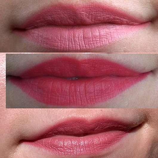 essence kisses from italy mini lipstick kit, Farbe-01 ciao bellissima (LE) - Lippenstift aufgetragen