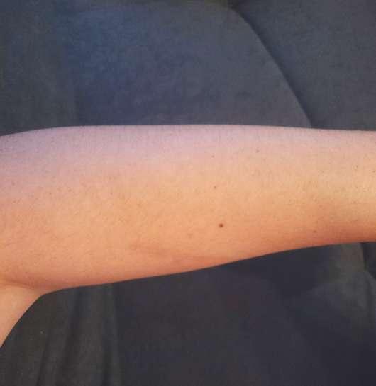Unterarm zu Testbeginn - Eucerin pH5 Leichte Textur Lotion