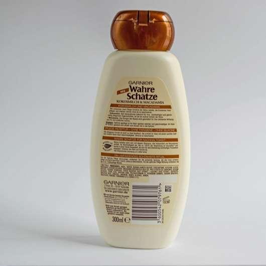 Verpackungsrückseite - Garnier Wahre Schätze Shampoo Kokosmilch & Macadamia