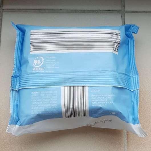Verpackungsrückseite - Lacura 3in1 Sanfte Reinigungstücher