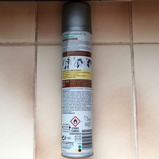 Batiste Hint of Colour Dry Shampoo, Farbe: beautiful brunette - Herstellerangaben