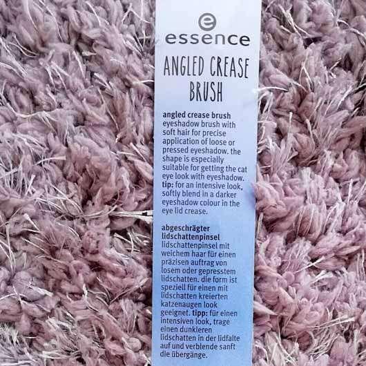 essence angled crease brush white - Verpackung Rückseite