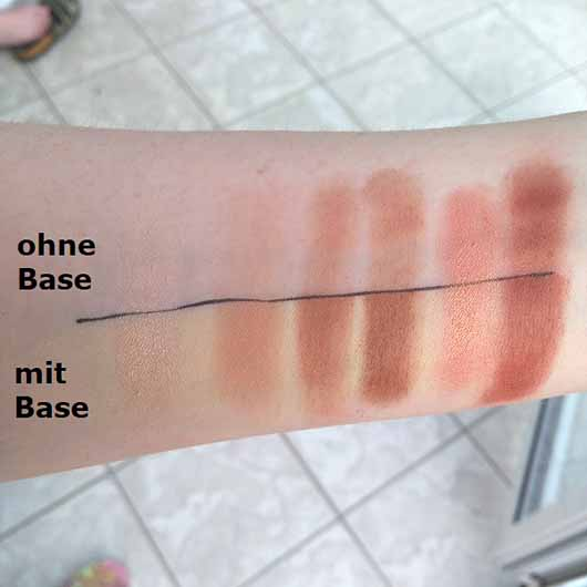 essence wanted: sunset dreamer eyeshadow palette, Farbe: 01 desert heat (LE) - Swatches