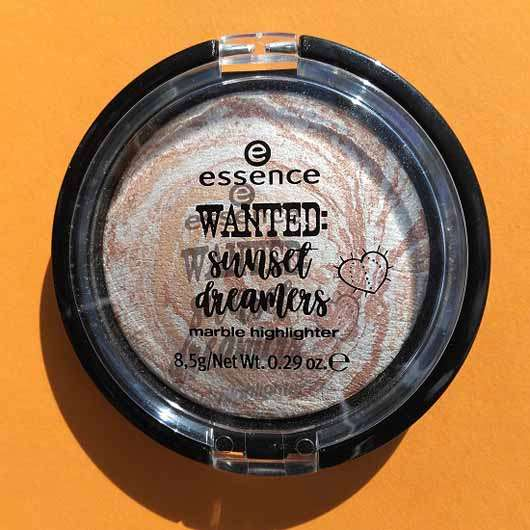essence wanted: sunset dreamers marble highlighter, Farbe: 01 golden summer days (LE)