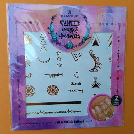 essence wanted: sunset dreamers nail & cuticle tattoos, Farbe: 01 release your inner hippie (LE)