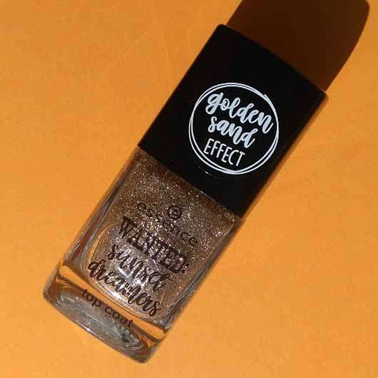 essence wanted: sunset dreamers top coat, Farbe: 01 golden sand (LE)
