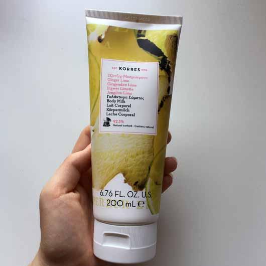 KORRES Ingwer Limette Körpermilch - Tube