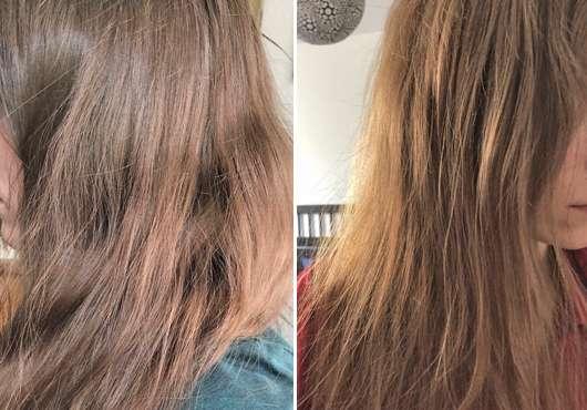 Haare zu Testbeginn (links) // nach Testende (rechts) - Luvos Shampoo (mit ultrafeiner Heilerde)