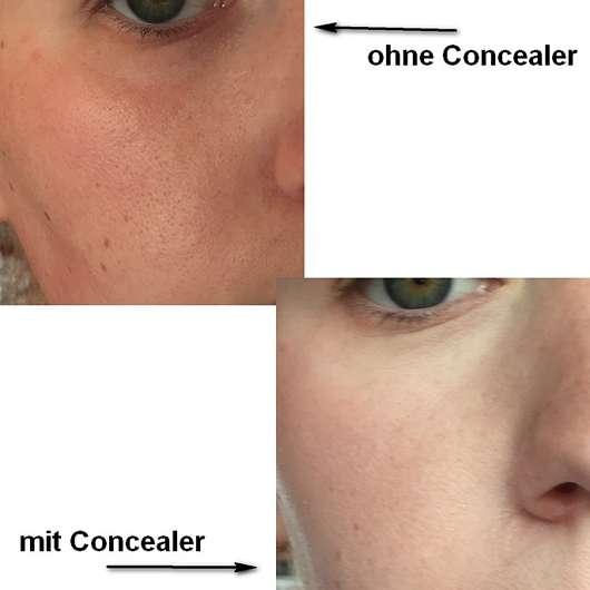 Makeup Revolution Ultra Professional Cover & Conceal Palette, Farbe: Light - Augen ohne und mit Concealer