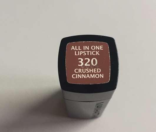 Unterseite des Manhattan All In One Lipstick, Farbe: 320 Crushed Cinnamon