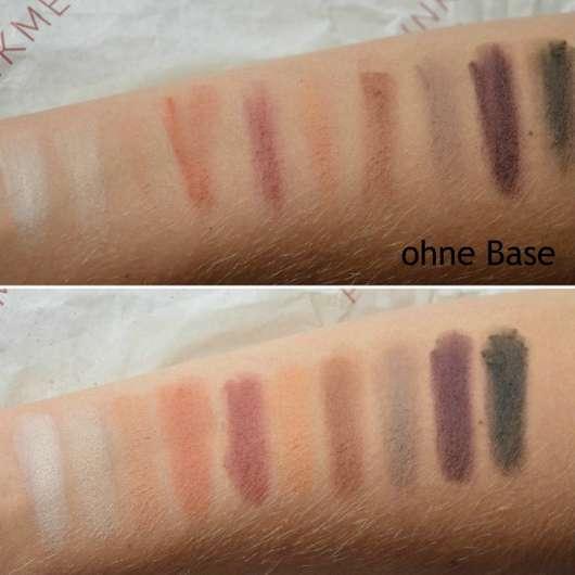Swatches der Misslyn Must-Have Eyeshadow Shades, Farbe: Shades Of Burgundy
