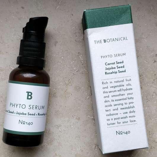 The Botanical Phyto Serum - Verpackung und Flasche