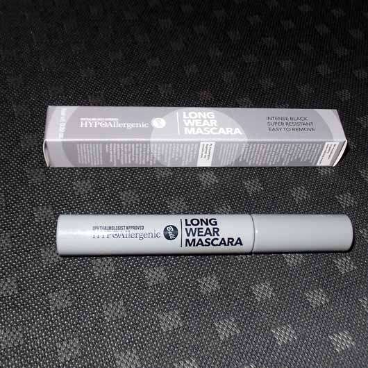 Bell HYPOAllergenic Long Wear Mascara, Farbe: Intense Black - Verpackung und Flakon