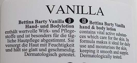 Bettina Barty Vanilla Hand & Bodylotion