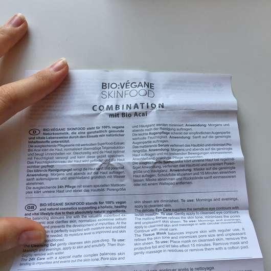 Beipackzettel - BIO:VÉGANE Bio Acai Serum