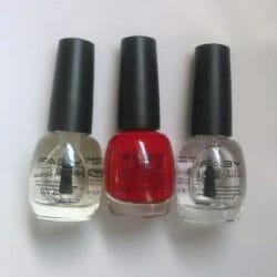 Produktbild zu FABY Nail Lacquer Mini – Farbe: Faby's Red