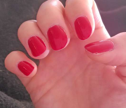 Nägel nach 5 Tagen - FABY Nail Lacquer Mini, Farbe: Faby's Red
