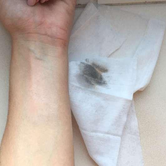 Unterarm nach der Anwendung des Tuches