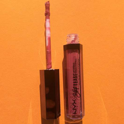 Applikator - NYX Slip Tease Full Color Lip Lacquer, Farbe: 07 Rosy Outlook