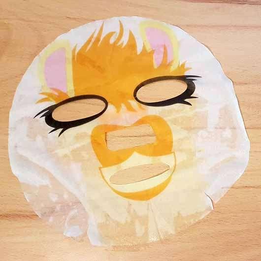 """The Beauty Mask Company Motiv-Tuchmaske """"Lama"""" - Tuchmaske ausgebreitet"""