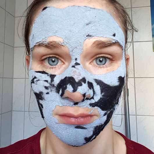 alverde Beauty & Fruity 2in1-Maske - Peelingmaske angetrocknet