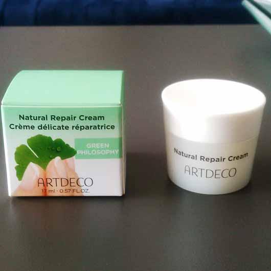 ARTDECO Natural Repair Cream - Verpackung und Tiegel