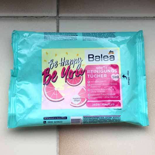 "Balea Softe Reinigungstücher ""Be happy, be you"" (LE) - Verpackung"