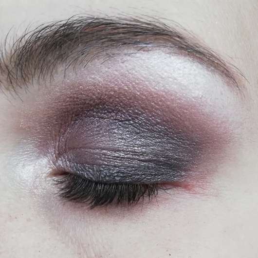 Augen Make-up mit Farben aus der L.O.V EYEvotion Luxurious Eyeshadow Palette, Farbe: 710 Devoted To Roses