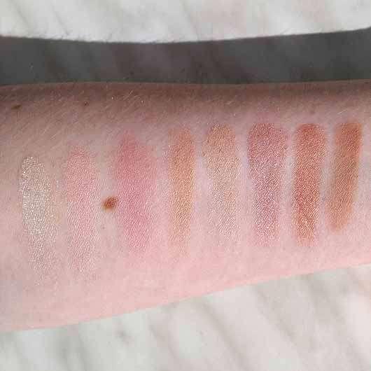 Makeup Revolution Ultra Blush Palette, Farbe: Golden Sugar - Swatches