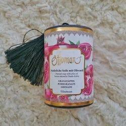 Produktbild zu Ottoman Natürliche Seife mit Olivenöl (Sorte: Granatapfel)