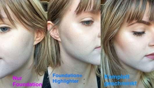 Haut ohne/mit Sleek MakeUP Highlighting Elixir Illuminating Drops, Farbe: Poppin' Bottles