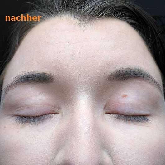 alverde Augenbrauenpomade, Farbe: Ash Taupe - Brauen mit Produkt