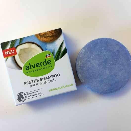 "alverde festes Shampoo ""Kokos"" - Verpackung und Shampoobar"